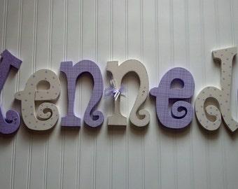Nursery decor, Nursery wall decor, Nursery letters, Nursery wall hanging letters, Purple & White nursery decor, nursery wall letters
