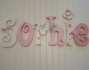 nursery decor nursery wall decor nursery wall hanging letters pink white gray nursery decor nursery wall letters