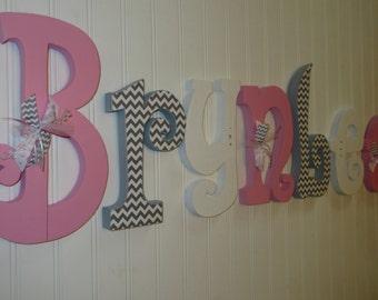 Nursery decor, Nursery wall decor, Nursery letters, Nursery wall hanging letters, chevron nursery decor, nursery wall letters