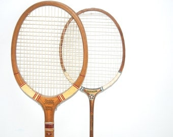 Instant Collection Vintage Wooden Racquets - Tennis and Badminton