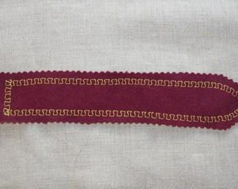Felted wool Lewis bookmark