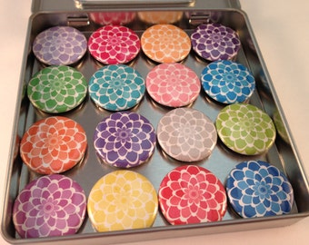 Colorful Peonies Magnets