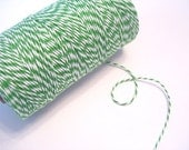 Peapod Green and White Bakers Twine, 240 yards / 219 m. / 1 Spool