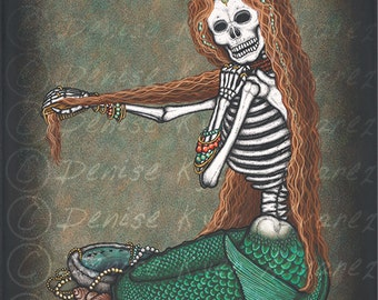 "8x10 Day of the Dead Giclee print, ""Arielle"""