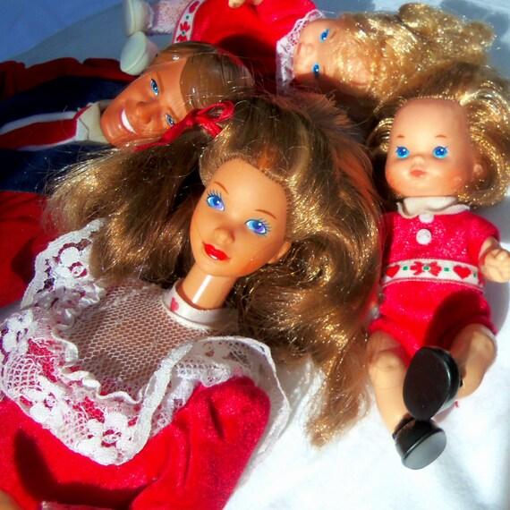 Mattel 1986 Heart Family Kiss Amp Cuddle Family Valentine Barbie