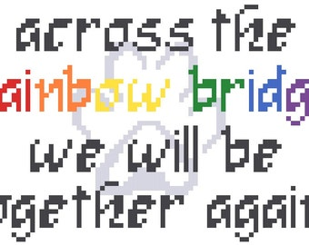 Rainbow Bridge - Cross Stitch Pattern - Instant Download
