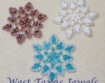 Snowflake #3 Beaded Ornament Pattern