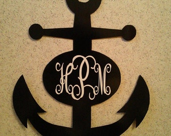 Monogramed Anchor