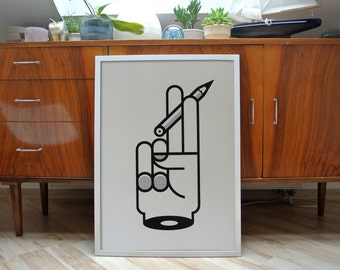 Hand | screenprint poster | limited edition of 50 | 50cm x 70cm