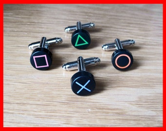 Playstation PS2 PS3 PS4 Button Cufflinks (Pair)