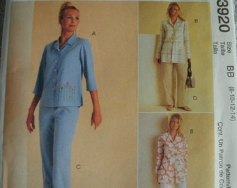 Misses Miss Petite Tops and Pants in Two Lengths Sizes 8-10-12-14 McCalls Sew News pattern 3920  NEW UNCUT 2003