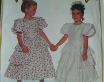 Girls Party Dress Girl Sizes 2-3-4 Butterick It's Enchanting Pattern 6608 Average Difficulty  UNCUT Pattern 1993