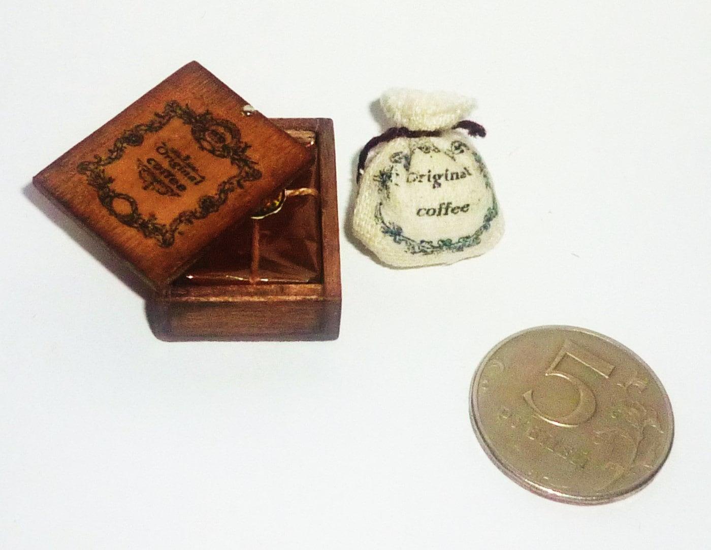 Dollhouse Miniature 1 12 Box Of Coffee Coffee Coffee Bag