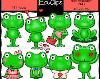 Froggy Love Clip Art Bundle