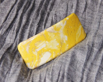 Yellow Marble Design Barrette