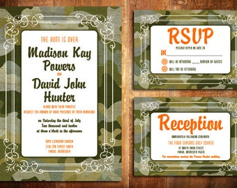 DIY Printable Camo Wedding Invite Set