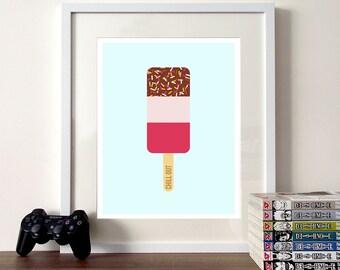 Nursery print, ice cream print, illustration poster, nursery quote, nursery poster, cute illustration, ice cream, ice cream poster, nursery