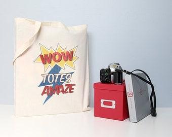 Tote bag, Cotton tote bag, Quote tote bag, Cotton shopper, Comic book tote