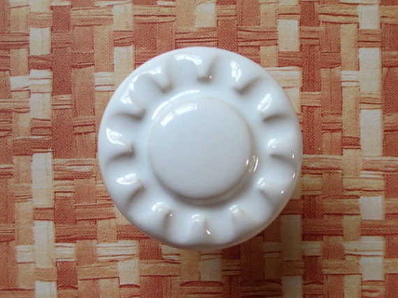 Kitchen Cabinet Door Knobs White Black Ceramic Dresser Knob