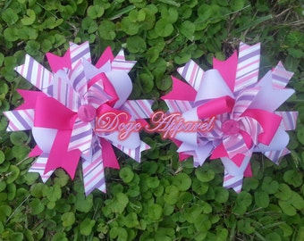 DCGC  Striped Passion Hair Bow