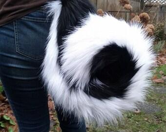 Big Curly Husky Costume Tail