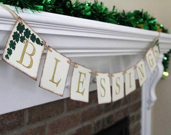 Blessings Decorative Banner • St. Patrick's Day Party Decoration
