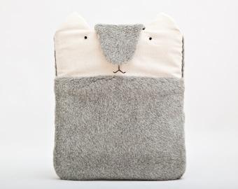 Fluffy iPad case, Cat iPad Air 2 case, iPad Pro 12.9 case, ipad cover, Gray iPad Pro 9.7 case, iPad Air Sleeve 12.9 inch iPad Pro case