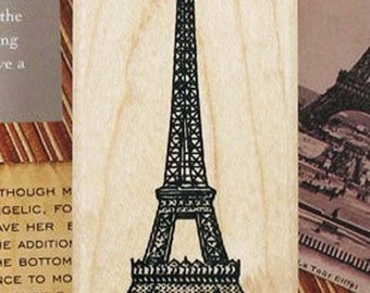 1 PC Korea New Scrapbooking DIY Wooden Rubber Stamp Romantic Eiffel Tower Stamp