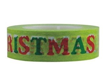 10% OFF Merry Christmas  washi Tape  -Deco tape-- 15mm x 15M