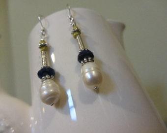 Beautiful Pearl Drop Earrings.