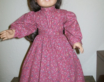 Dusty Rose Prairie Dress for the American Girl or 18 Inch Dolls