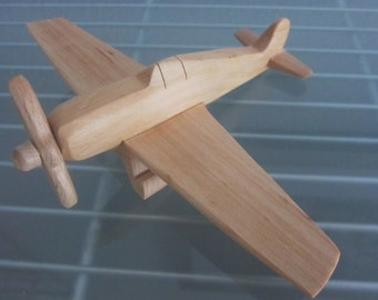 Hellcat  airplane flier vintage wood handmade