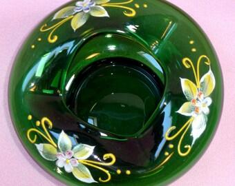 Emerald Art Glass czech art glass | etsy