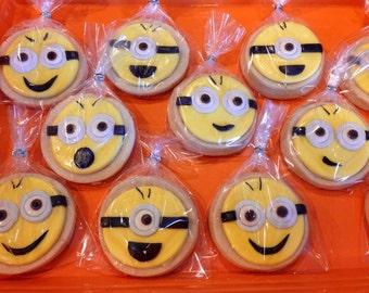 Minions COokies. One dozen.