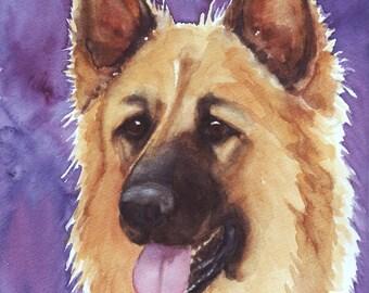 German Shepherd, Original Painting
