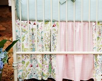 Girl Baby Crib Bedding: Love Birds 2-Piece Crib Bedding Set by Carousel Designs