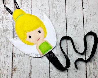 ITH Sparkle Bell Inspired Felt Bow Holder Clippie Holder Clippy Holder Embroidery Design
