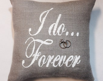 Ring Bearer Burlap Pillow