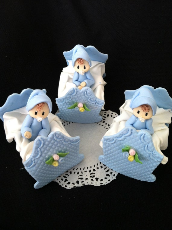 Baby Shower Cake Topper, Baby Shower Twins Baby Cake Topper ,Boys Baby ...