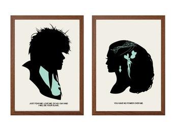 LABYRINTH | You Have No Power Over Me Poster : Jareth + Sarah Modern Illustration Retro Art Wall Decor