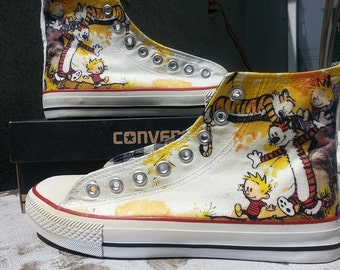 Calvin and Hobbes Custom Converse All Stars