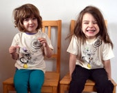 """Cow """"Ice Dreamin'"""" Toddler Tee: 100% organic cotton with screenprint, embroidery and appliqué"""