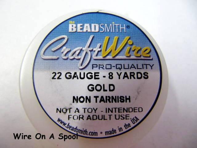 Gold craft wire 22 gauge round spool non tarnish gold for 22 gauge craft wire