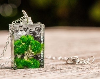 Summer Tree Resin Pendant Necklace