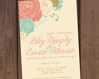 Autumn Harvest Wedding Invitation