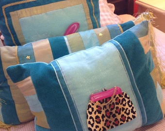 "Hand Painted ""Leopard Purse"" Decorative Art Pillow"