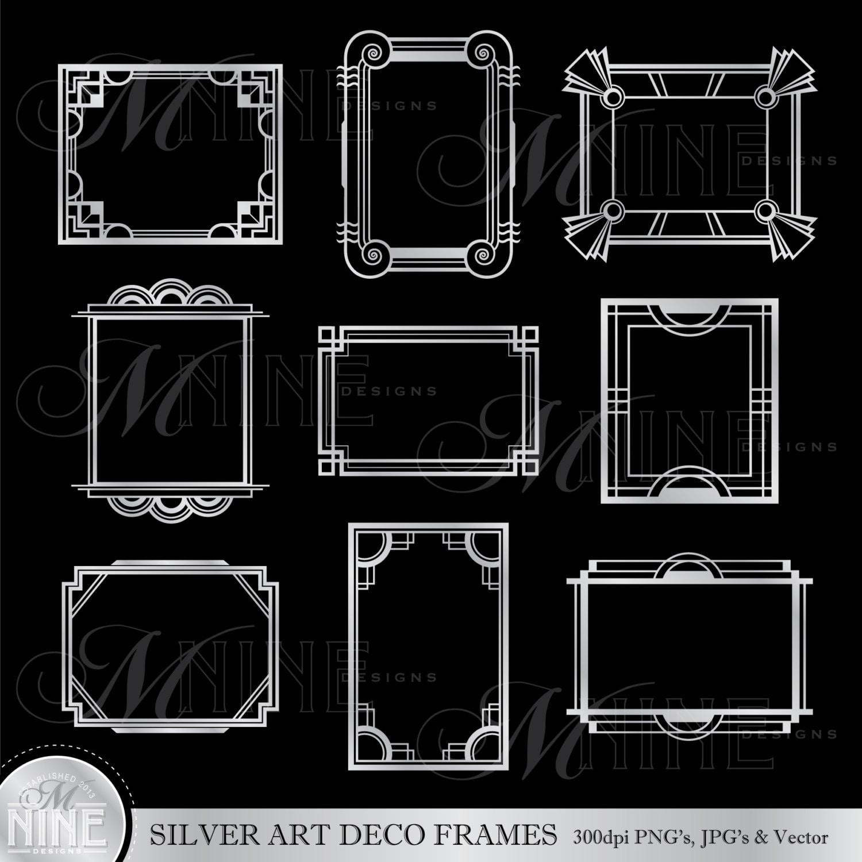 Art deco frame clip art