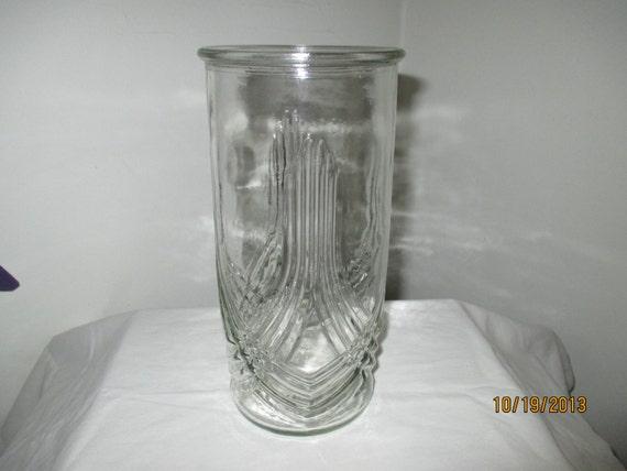 Hoosier Glass Vase 4089 Ahoosier Glass 4089 B Large Clear Ribbed