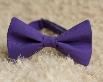 Easter Purple Bow Tie, Purple Bow Tie, Easter Bow Tie, Boys Bow Tie, Church Bow Tie, Plum Purple Bow Tie, Adult Bow Tie, Adjustable Bow Tie