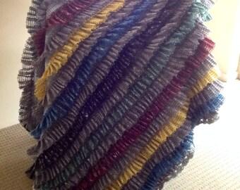 Handmade Crochet Ruffle Blanket